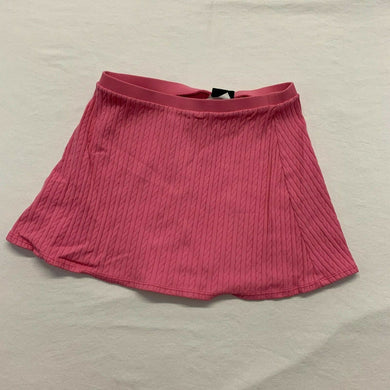 Lauren Ralph Lauren Women's A-Line Skirt Small Pink Ribbed Stretch Elastic Waist
