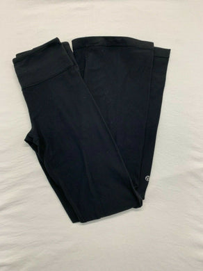 Lululemon Yoga Pants Women's Size 2 Black Wide Leg Workout Gym Stretch
