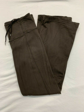 Lululemon Yoga Pants Women's Size 8 Brown Mid Rise Wide Leg Workout Gym Pants