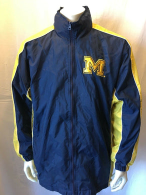 Michigan Wolverines Jacket NCAA Full Zip Mesh Lined Adult L University