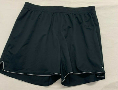 Nike Women's Athletic Shorts Size 2X Dri Fit Black White Polyester Drawstring
