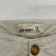 Load image into Gallery viewer, Old Navy Women's Capri Size 4 Beige Stretch Low Rise Flat Front Cropped