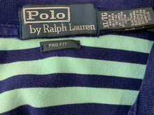 Load image into Gallery viewer, Polo Ralph Lauren Men's Size XL Pro Fit Blue Striped Short Sleeve Large Pony