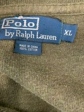 Load image into Gallery viewer, Polo Ralph Lauren Ribbed Long Sleeve Zip Up Men's XL Green Pullover Sweater