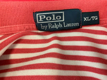 Load image into Gallery viewer, Polo Ralph Lauren Size XL Men's Polo Shirt Pink White Striped Short Sleeve