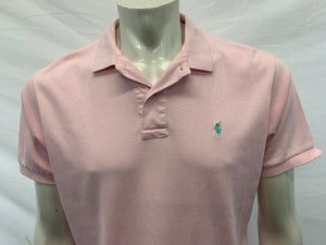 Ralph Lauren Pink Polo Shirt Men's Medium Short Sleeve Cotton Polo Shirt
