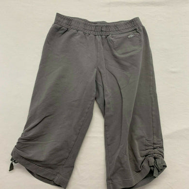 Roots Athletics Women's Capri Size Medium Gray Stretch Cropped Joggers