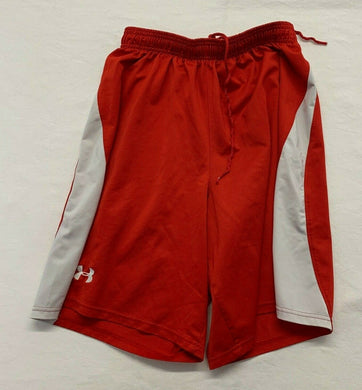 Under Armour Men's Athletic Shorts Size MD Red Mesh Elastic Drawstring Waist