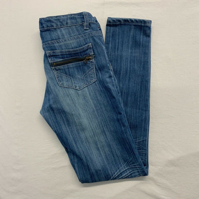 Urban Behavior Women's Jeans Size 28 Fit Melrose Stretch Skinny Leg Whiskered