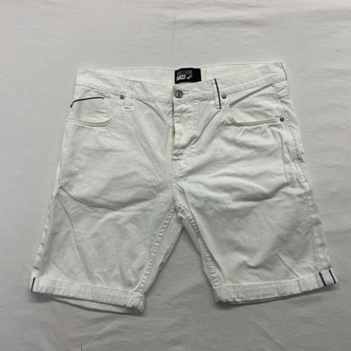 William Rast Men's White Jean Shorts Size 36 Button Fly Flat Front Casual Short