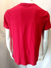 Load image into Gallery viewer, Guess Jeans Embroidered Spell Out Red S/S Crew Neck Men's T Shirt Size XL