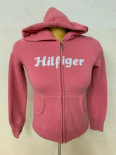 Load image into Gallery viewer, Tommy Hilfiger Girls Medium Pink Zipper Front Hoodie Sweatshirt Cotton/Poly