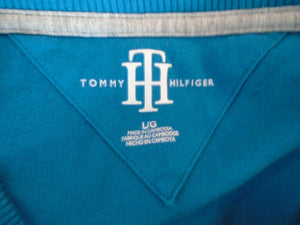 Tommy Hilfiger Men's Blue Long Sleeve Crew Neck 100% Cotton Pullover Shirt Sz L