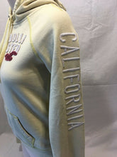 Load image into Gallery viewer, Hollister Hoodie Women's Yellow Embroidered Logo Pullover Hooded Sweatshirt M