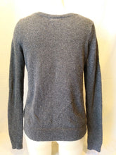 Load image into Gallery viewer, Hollister Gray Long Sleeve Women's V Neck Cotton Acrylic Sweater Size M