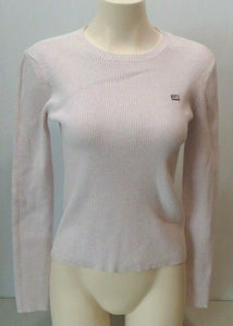 Polo Jeans Ralph Lauren Women's Pink Crew Neck Long Sleeve Ribbed Sweater Size M