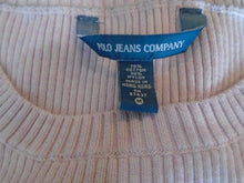 Load image into Gallery viewer, Polo Jeans Ralph Lauren Women's Pink Crew Neck Long Sleeve Ribbed Sweater Size M