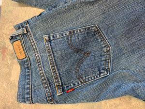 Levi's 505 Mens straight denim blue jeans 34x32
