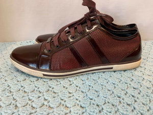 Kenneth Cole men's 9M Burgundy Down-Load lace up shoes leather upper