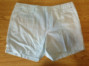 Tommy Hilfiger Shorts Women's 28 Blue Cotton Blend Chino Walking Casual Shorts