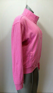 PINK Victoria's Secret Women's Medium Pink Long Sleeve 1/4 Zip Up Sweatshirt