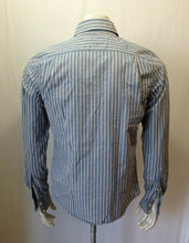 Load image into Gallery viewer, Hollister Men's XS Blue Red Striped Long Sleeve Button Up Cotton Casual Shirt
