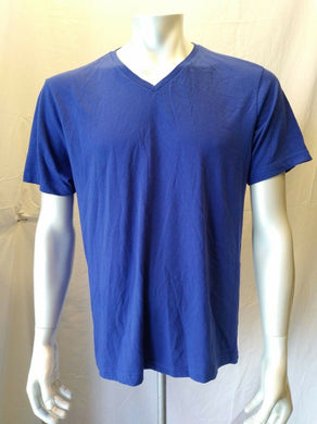 BENCH Men's X-Large Blue Short Sleeve V Neck Cotton Casual T Shirt
