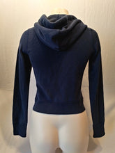 Load image into Gallery viewer, Abercrombie and Fitch Dark Blue Long Sleeve Full Zip Hooded Sweatshirt Size S