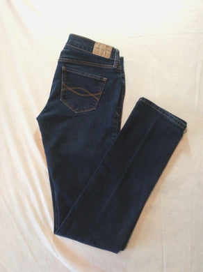 Abercrombie and Fitch Low Rise Women's Skinny Leg Denim Blue Jeans Size 2R
