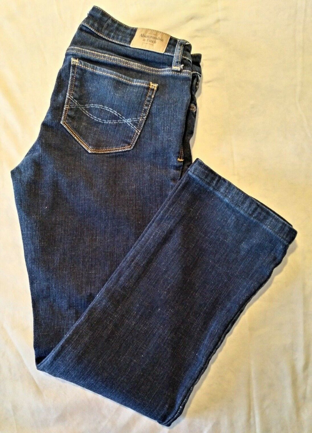 Abercrombie & Fitch Women's Straight Leg Low Rise Denim Blue Jeans Size W29 L28
