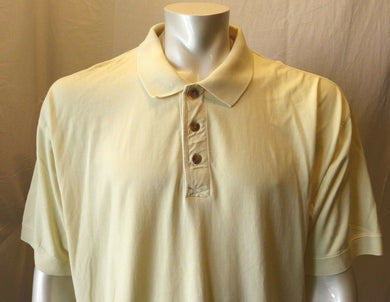 Eddie Bauer Yellow Cuffed Short Sleeve Cotton Casual Men's Polo Shirt Size Large