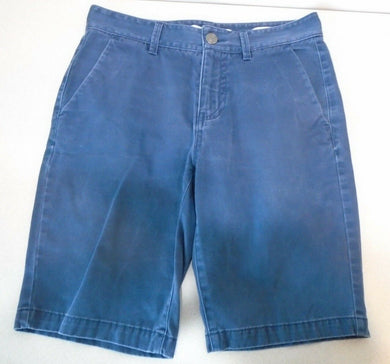 GUESS Classic Fit Blue Knee Length Flat Front Men's Chino Shorts Size 29