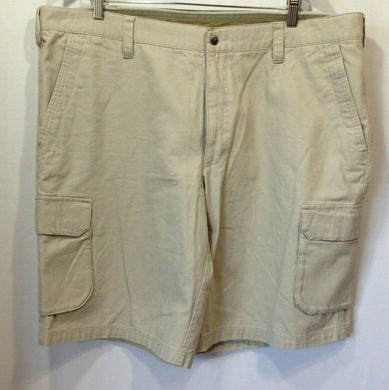 Columbia Men's 40W 12 L Beige Cotton Cargo Style Flap Pocket Casual Shorts