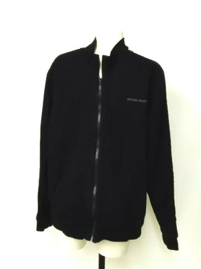 Guess Mens XL Black zip up Jacket with small spell out left chest