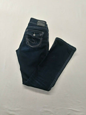 Silver Jeans Suki Women's Size 28/33 Mid Slim Boot Super Stretch