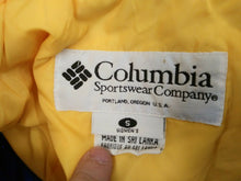 Load image into Gallery viewer, Columbia Womens Size Small Yellow White Long Sleeve Full Zip Coat