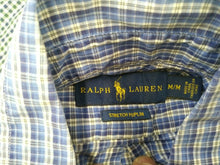 Load image into Gallery viewer, Ralph Lauren Shirt Men's Medium Poplin Blue Plaid Long Sleeve Button Down