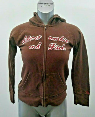 Abercrombie & Fitch Hoodie Women's Medium Fitted Full Zip Hooded Jacket
