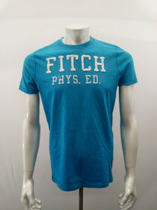 Abercrombie & Fitch Tee Men's Large Blue Crew Neck Short Sleeve T Shirt