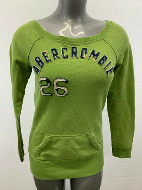 Abercrombie & Fitch Sweatshirt Women's Small Green Scoop Neck Pullover