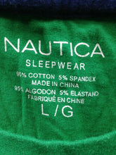 Load image into Gallery viewer, Nautica Sleepwear Men's Large Cotton Blend Short Sleeve Crew Neck Green T Shirt
