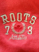 Load image into Gallery viewer, Roots Canada Athletics Men's Red Long Sleeve 1/4 Zip Mock Neck Sweatshirt Size M