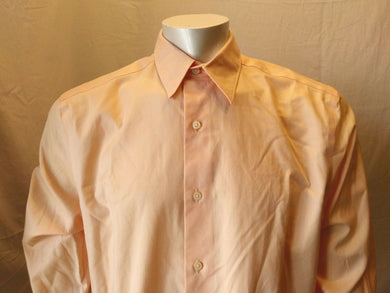 Eddie Bauer Stain-Resistant Peach Button Down Long Sleeve Men's Shirt Size M