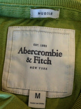 Load image into Gallery viewer, Abercrombie & Fitch Tee Men's Medium Green Stitched Spell Out Crew Neck T Shirt