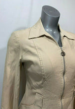 Load image into Gallery viewer, Joseph Ribkoff Women's Size 8 Beige Long Sleeve Zip Front Rayon Blend Jacket