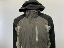 Load image into Gallery viewer, Columbia Men's Medium Two Tone Gray & Black w/ Detachable Hooded Nylon Full Zip