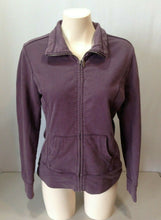 Load image into Gallery viewer, Roots Canada Purple Mock Neck Long Sleeve Women's Full Zip Jacket Size Medium