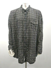 Load image into Gallery viewer, Calvin Klein Men's Size 5X Gray Plaid Long Sleeve Button Up Casual Shirt
