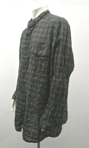 Calvin Klein Men's Size 5X Gray Plaid Long Sleeve Button Up Casual Shirt