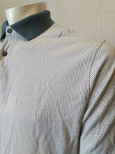 Load image into Gallery viewer, HUGO BOSS Mercerized Cotton White Blue Checkered Men's Polo Shirt Size L